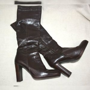 EUC Aldo Knee High Chunk Heel Boots